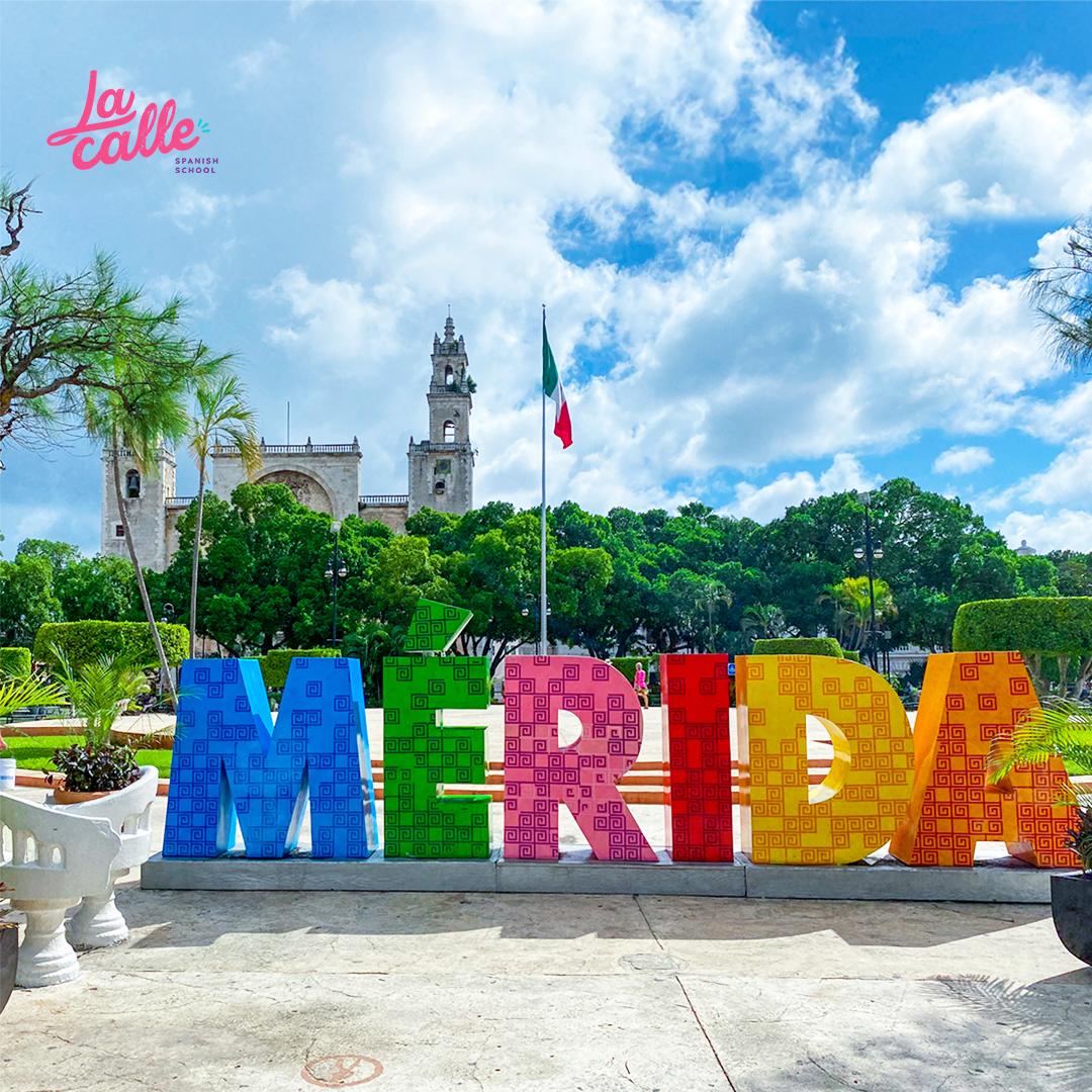 The historic city center of Merida